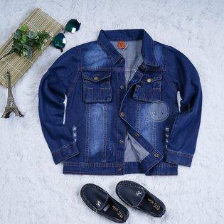Ao khoac jeans cho be trai ca tinh (6-11 tuoi)
