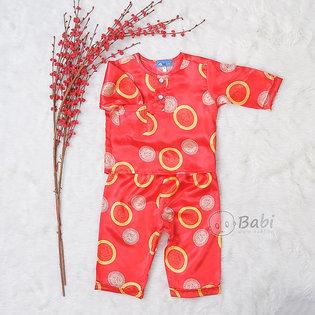 Bo pyjama be trai dai tay hinh dong tien (9 thang - 10 tuoi)