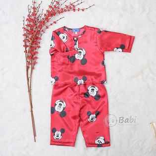 Bo pyjama cho be trai dai tay in hoat hinh