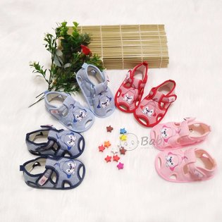 Giay sandal tap di cho be in hinh cun (6 thang - 15 thang)