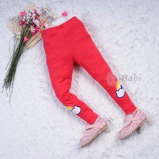 Quan legging size dai cho be hinh cau vong (7-10 tuoi)