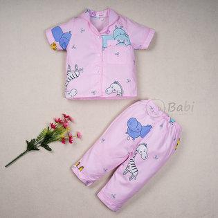 Bo pijama cho be gai in hinh thu de thuong (1-10 tuoi)
