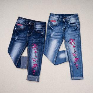 Quan Jeans dai cho be gai theu hoa rat xinh