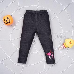 Quan legging gia jeans cho be gai co theu chu Love (size nhi)