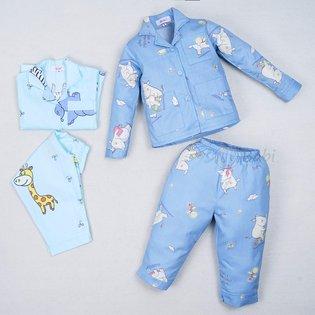 Bo pijama dai tay be gai in hinh dang yeu (1-10 tuoi)