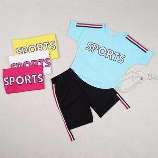 Bo ngan cho be gai theu chu Sports size dai