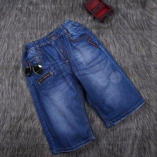 Quan jeans cho be trai tui phoi day keo (dai co) (8 - 11 tuoi)