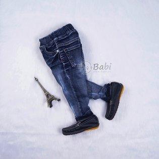 Quan jeans dai cho be trai lung thun wax nhe size dai (6 - 8 tuoi)