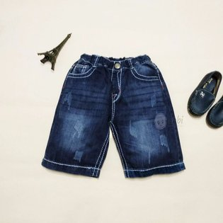 Quan jeans lung cho be trai lung thun (7 - 12 tuoi)
