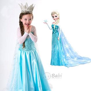 Dam hoa trang thanh cong chua Elsa cho be gai (2 -8 tuoi)
