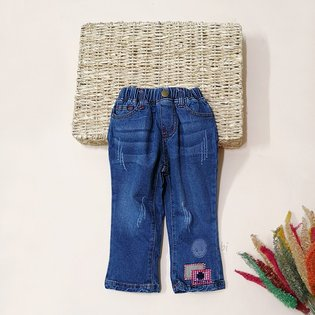 Quan jeans be gai 2 tuoi - 8 tuoi ong loe cach dieu