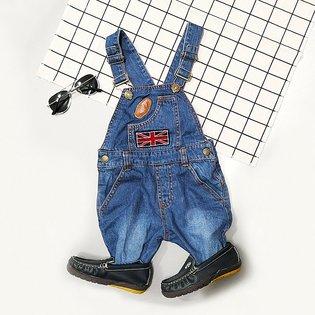 Quan yem jeans theu la co Anh cho be trai (2 tuoi - 7 tuoi)