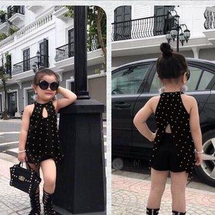 Bo be gai ao co yem quan short de thuong (8kg-26kg)
