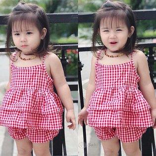 Bo do caro hai day cho be gai 9 thang - 8 tuoi beo tang de thuong