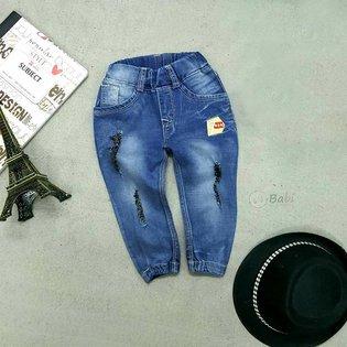 Quan jeans dai cho be trai 1 tuoi - 7 tuoi bo lai wash rach