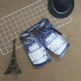 Quan jeans in chu cho be trai 8 tuoi - 10 tuoi phong cach moi cuc chat ( size dai)