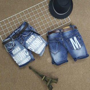 Quan jeans cho be trai 1 tuoi - 7 tuoi in chu phong cach moi cuc chat