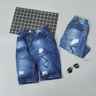Quan jeans lung cho be trai size dai