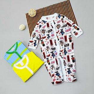 Set 3 bodysuit dai so sinh de thuong cho be trai