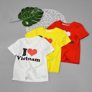Ao thun cho be in chu I Love Viet Nam (3-10 tuoi)
