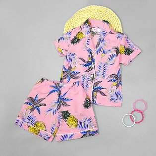 Bo pyjama cho Me ngan tay hoa tiet la (40kg-55kg)