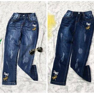 Quan Jeans Dai Be Gai 5-9 Tuoi Theu Chuon Chuon