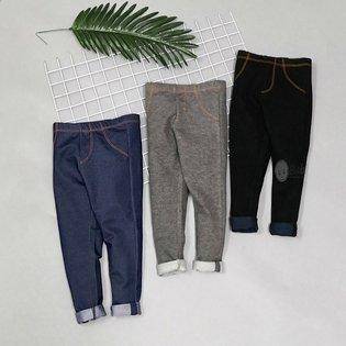 Quan Legging Gia Jeans Cho Be Mau Tron (1-10 Tuoi)