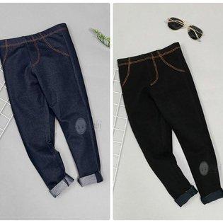 Quan Legging Cho Be 1-11 Tuoi Gia Jeans Mau Tron Dep