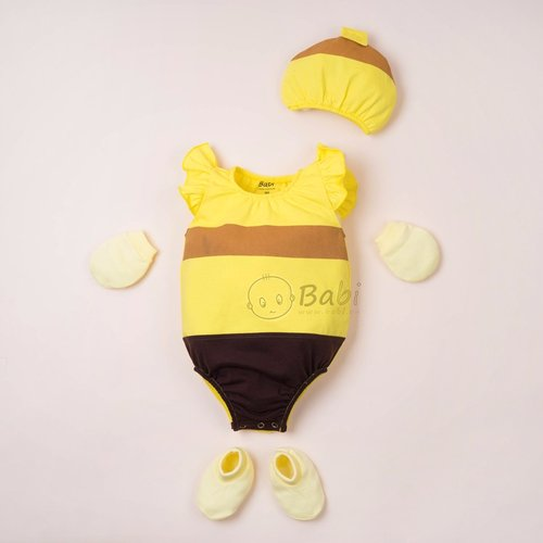 Do Bodysuit so sinh cho be gai kem non hinh con ong