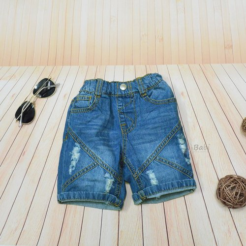 Quan jeans dui cho be trai 6 thang - 3 tuoi Sury wash nhe