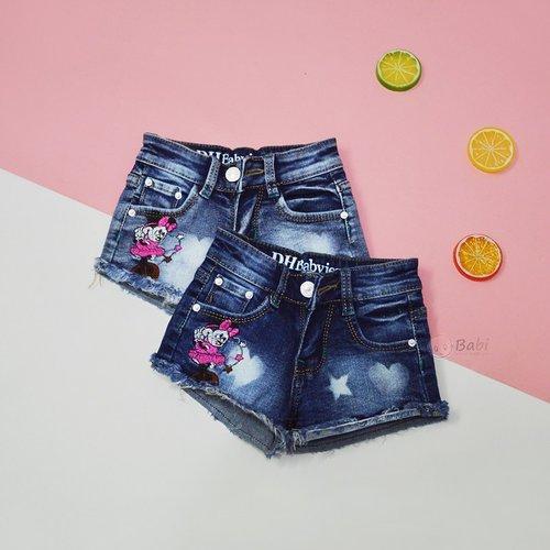 Quan Short Jeans Be Gai 9 Thang Den 5 Tuoi Theu Dep