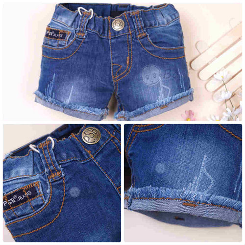 Quan Short Jeans PSB Lat Lai Tua Rua Cho Be Gai