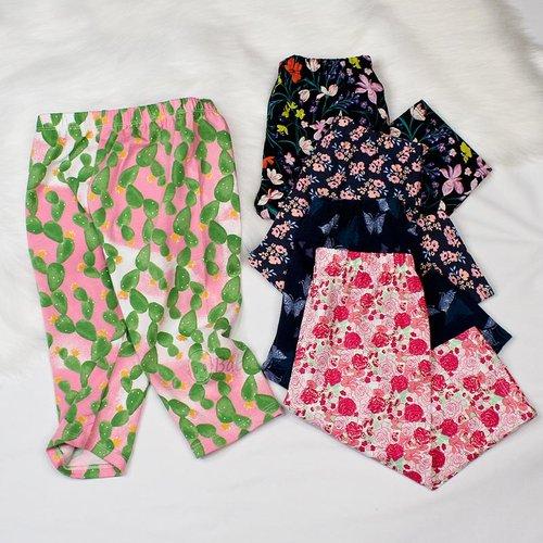Quan Legging Be Gai Vai Thun Cotton Mem Mat (6-11 tuoi)