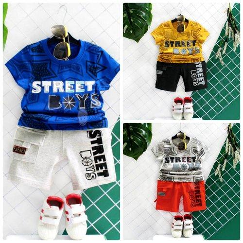 Do Bo Be Trai Tay Ngan Quan Lung In Chu Street Boys (9 thang  - 11 tuoi)