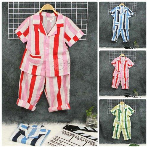 Do Bo Pyjama Cho Be Tay Ngan Quan Dai Hoa Tiet Soc (3 - 10 Tuoi)