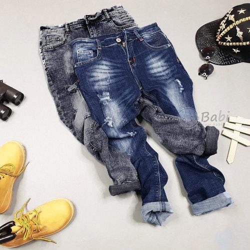 Quan Jeans Dai Cho Be Trai Mau Tron Size Dai (6 - 10 tuoi)