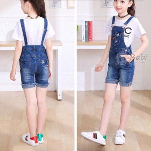 Yem Short Jeans Cho Be Gai Phoi Tui Sanh Dieu (1 - 8 tuoi)