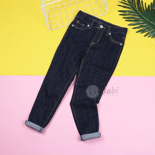 Quan Jeans Dai Cho Be Gai Mau Xanh Tron Don Gian (5 - 11 Tuoi)