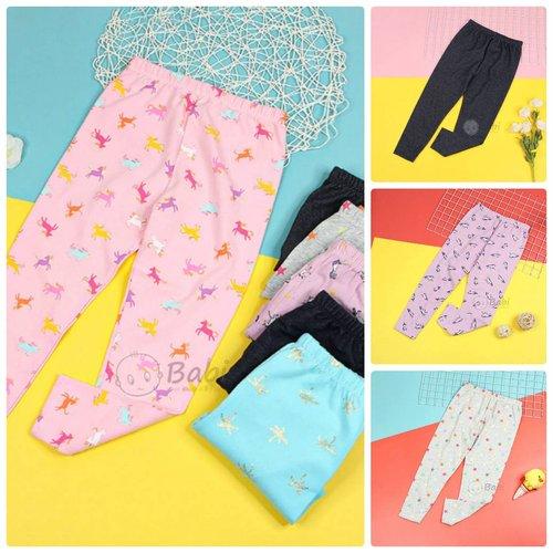 Quan Legging Be Gai Nhieu Hoa Tiet Xinh Xan Size Dai (6 - 11 tuoi)