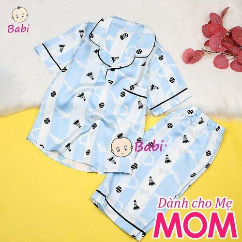 Bo Pyjama Satin Danh Cho Me Tay Ngan Quan Lung  Nhieu Hoa Tiet Xinh Xan  (45kg - 60kg)