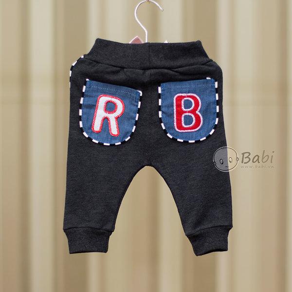 Quàn thun dài cho bé trai hai túi sau giả jeans 5