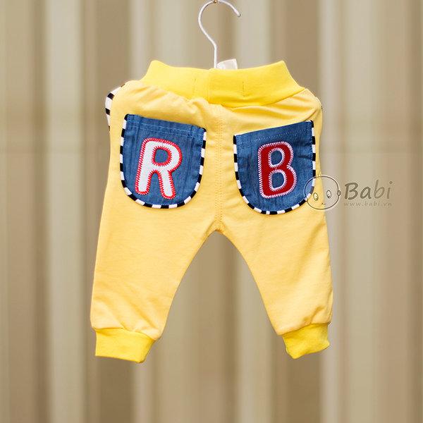 Quàn thun dài cho bé trai hai túi sau giả jeans 6
