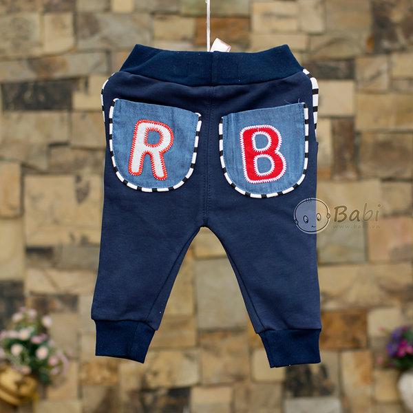 Quàn thun dài cho bé trai hai túi sau giả jeans 9