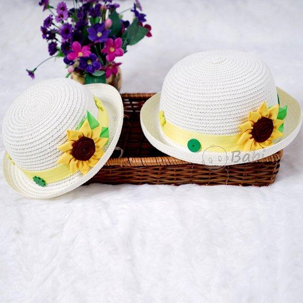 Non Me va be handmade dinh hoa huong duong