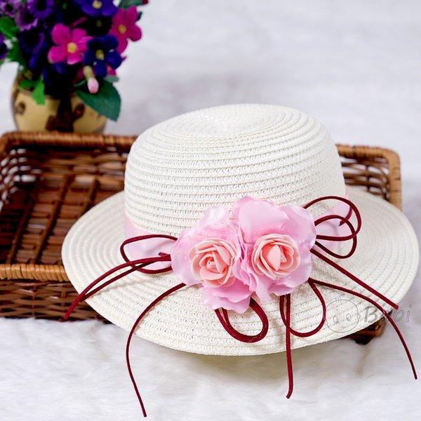 Non rong vanh Me va be handmade hoa hong