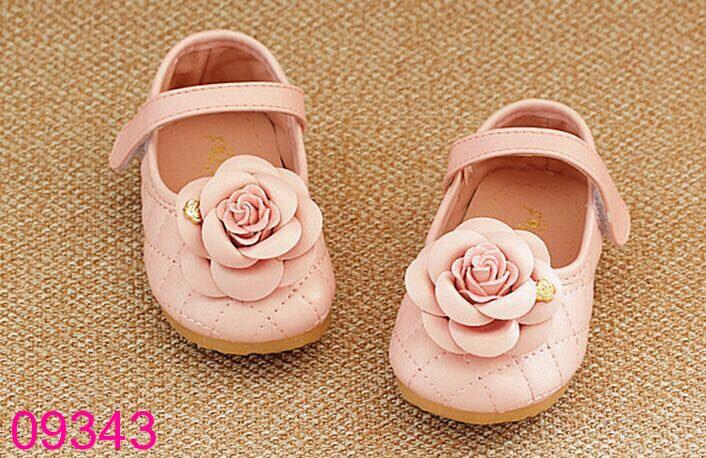 Giày búp bê bé gái đính hoa size 15-25