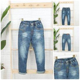 Quan Jeans Dai Cho Be Trai Lung Thun Wax Nhe Thoi Trang Size Dai (8 - 14 Tuoi)
