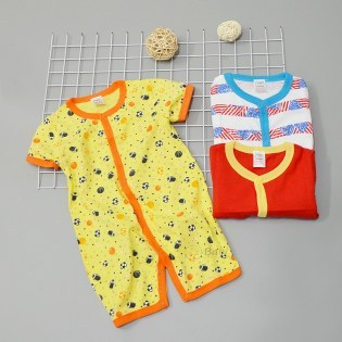 Set 3 bodysuit cho be trai so sinh ngan tay 9 thang - 2 tuoi