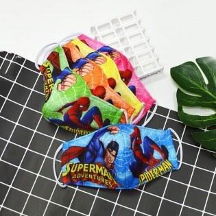 Khau trang tre em in hinh Superman cho be trai