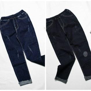 Quan Jeans Dai Be Gai 7-12 Tuoi Lat Lai Tua Rua Sanh Dieu